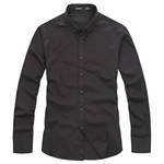 lesmart 男装新款衬衫 商务休闲纯色纯棉长袖衬衣 男衬衫 SX13140