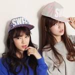 柏妃 韩版新款荧光色潮女HIPHOP街舞平沿棒球帽子 B12