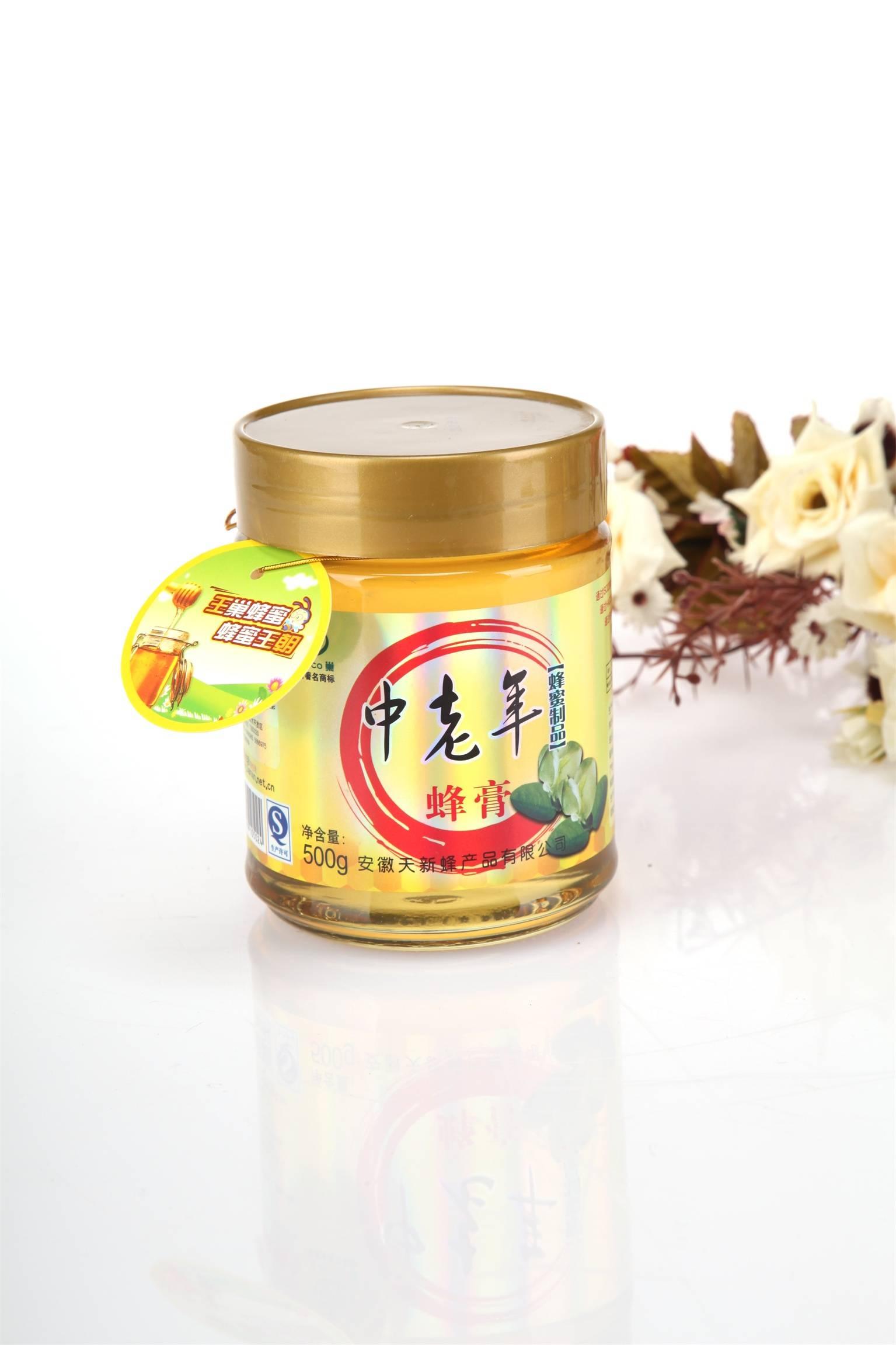 王巢 中老年蜂蜜膏 500g  瓶装