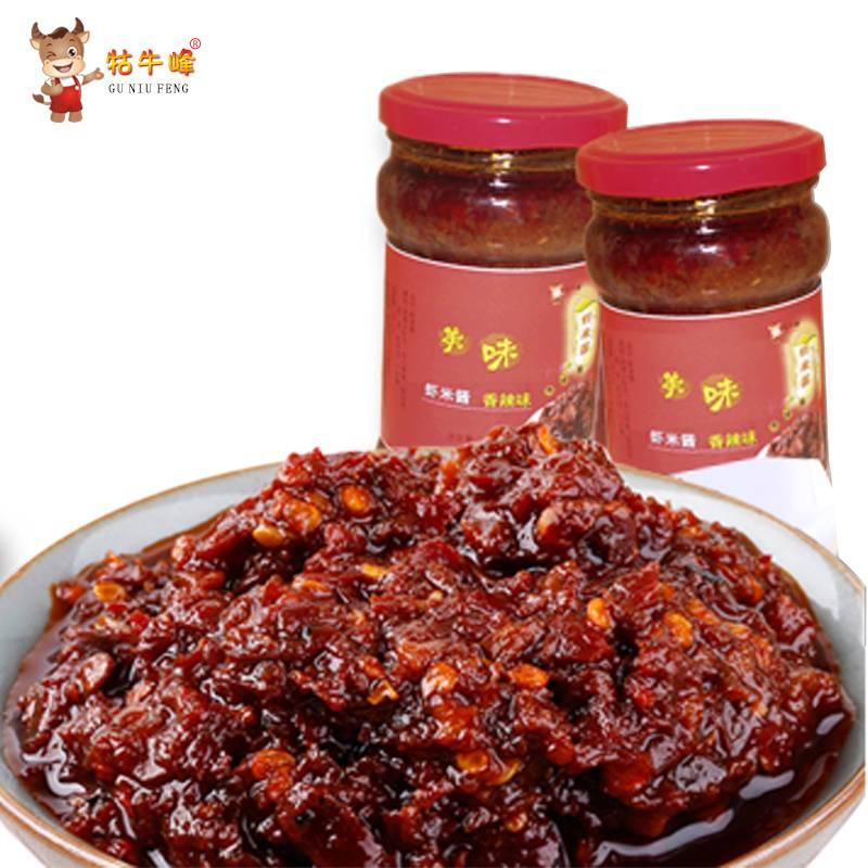 牯牛峰 虾米酱调味酱 香辣味280g*2