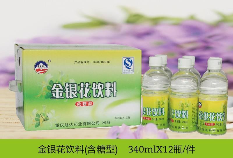 金银花饮料(含糖) 340ml*12瓶/件