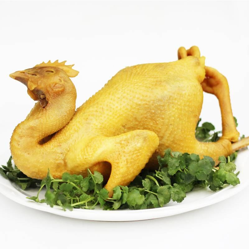 祈发盐焗鸡560g 客家风味咸水鸡卤味鸡肉熟食 现做手撕鸡真空包装 半只鸡