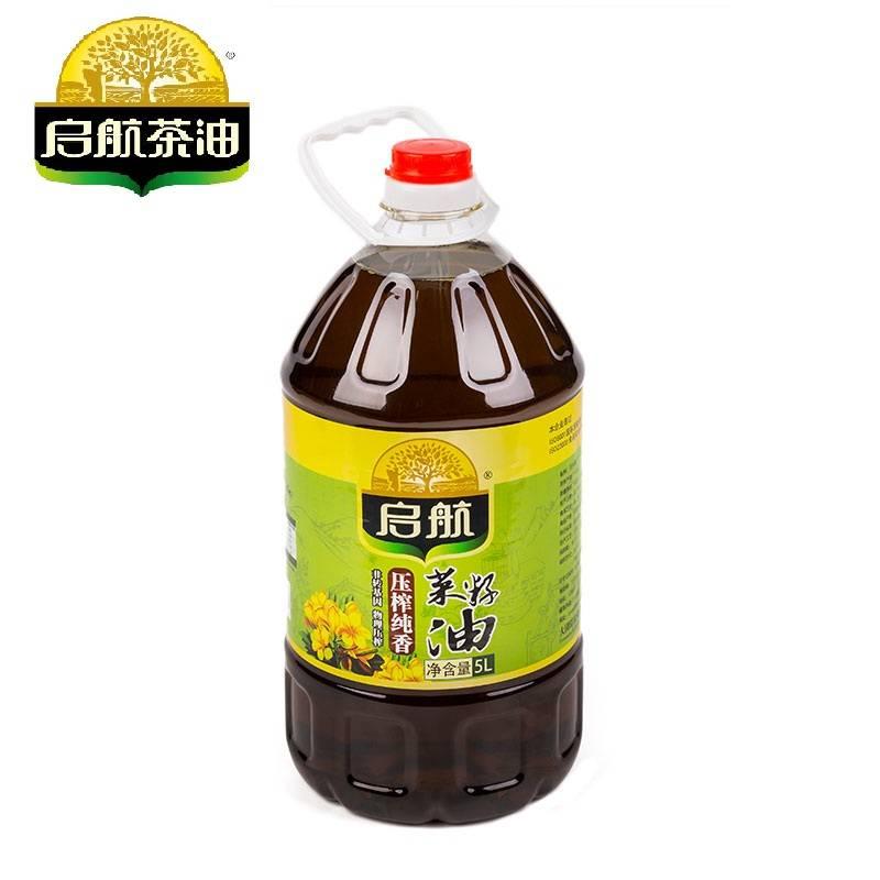 启航  纯香菜籽油5L/桶装  非转基因压榨 食用