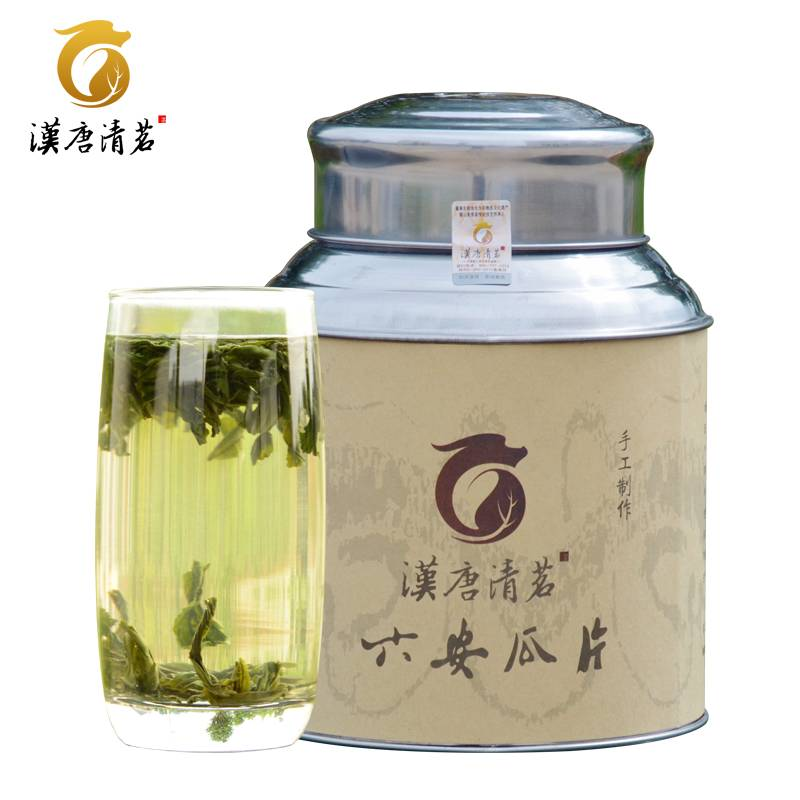 汉唐清茗 六安瓜片 雨前手工安徽茶叶 散装自喝绿茶250g罐装包