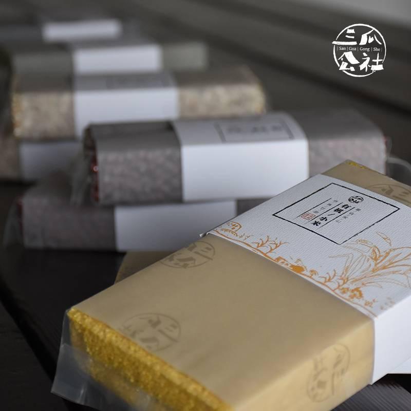 三瓜公社 小米 无染色小米400g 五谷杂粮放心粗粮小米