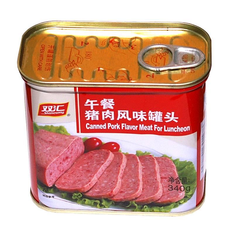双汇午餐猪肉风味罐头340g聚餐火锅必备特产食品