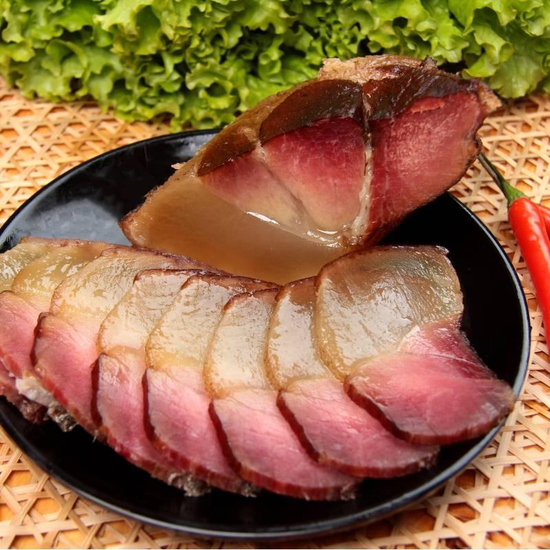 农家自产 云南昭通镇雄土特产小吃正宗农家自制柴火烟熏腊肉5市斤(2.5kg)装